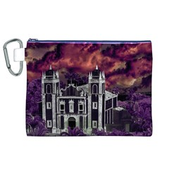 Fantasy Tropical Cityscape Aerial View Canvas Cosmetic Bag (XL)