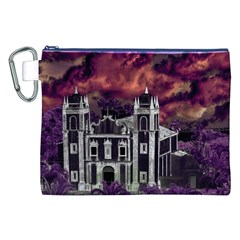 Fantasy Tropical Cityscape Aerial View Canvas Cosmetic Bag (XXL)