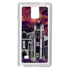 Fantasy Tropical Cityscape Aerial View Samsung Galaxy Note 4 Case (White)