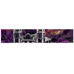 Fantasy Tropical Cityscape Aerial View Flano Scarf (Large)