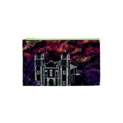 Fantasy Tropical Cityscape Aerial View Cosmetic Bag (XS)
