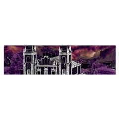 Fantasy Tropical Cityscape Aerial View Satin Scarf (Oblong)