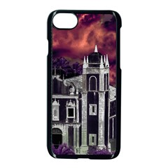 Fantasy Tropical Cityscape Aerial View Apple Iphone 7 Seamless Case (black)