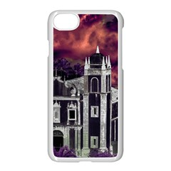 Fantasy Tropical Cityscape Aerial View Apple iPhone 7 Seamless Case (White)