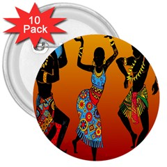 Dancing 3  Buttons (10 pack)