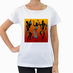 Dancing Women s Loose-Fit T-Shirt (White)