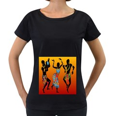 Dancing Women s Loose-Fit T-Shirt (Black)
