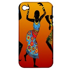 Dancing Apple iPhone 4/4S Hardshell Case (PC+Silicone)