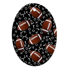 Football Player Ornament (Oval)
