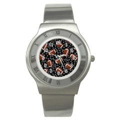 Football Player Stainless Steel Watch