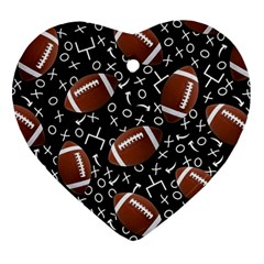 Football Player Heart Ornament (2 Sides)