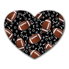 Football Player Heart Mousepads