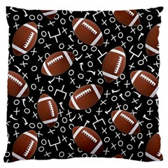 Football Player Large Flano Cushion Case (One Side)