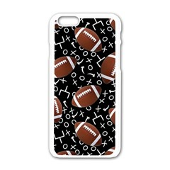Football Player Apple iPhone 6/6S White Enamel Case