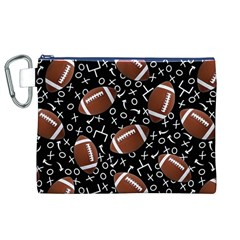 Football Player Canvas Cosmetic Bag (XL)