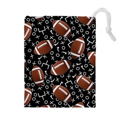 Football Player Drawstring Pouches (Extra Large)