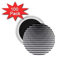 Dark Circles Halftone Black White Copy 1.75  Magnets (100 pack)