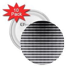 Dark Circles Halftone Black White Copy 2.25  Buttons (10 pack)