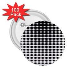 Dark Circles Halftone Black White Copy 2.25  Buttons (100 pack)