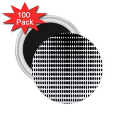 Dark Circles Halftone Black White Copy 2.25  Magnets (100 pack)