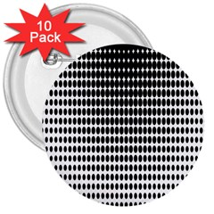 Dark Circles Halftone Black White Copy 3  Buttons (10 pack)