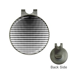 Dark Circles Halftone Black White Copy Hat Clips with Golf Markers