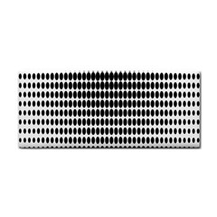 Dark Circles Halftone Black White Copy Cosmetic Storage Cases