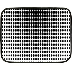 Dark Circles Halftone Black White Copy Double Sided Fleece Blanket (Mini)