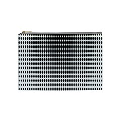 Dark Circles Halftone Black White Copy Cosmetic Bag (Medium)