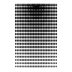 Dark Circles Halftone Black White Copy Shower Curtain 48  x 72  (Small)