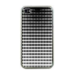 Dark Circles Halftone Black White Copy Apple iPhone 4 Case (Clear)
