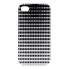 Dark Circles Halftone Black White Copy Apple iPhone 4/4S Premium Hardshell Case