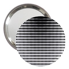 Dark Circles Halftone Black White Copy 3  Handbag Mirrors