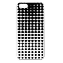 Dark Circles Halftone Black White Copy Apple Seamless iPhone 5 Case (Clear)
