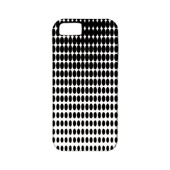 Dark Circles Halftone Black White Copy Apple iPhone 5 Classic Hardshell Case (PC+Silicone)
