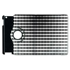 Dark Circles Halftone Black White Copy Apple iPad 2 Flip 360 Case