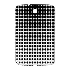 Dark Circles Halftone Black White Copy Samsung Galaxy Note 8.0 N5100 Hardshell Case