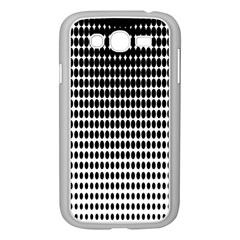 Dark Circles Halftone Black White Copy Samsung Galaxy Grand DUOS I9082 Case (White)