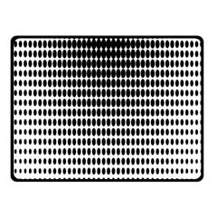 Dark Circles Halftone Black White Copy Double Sided Fleece Blanket (Small)
