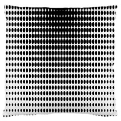 Dark Circles Halftone Black White Copy Standard Flano Cushion Case (Two Sides)