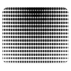 Dark Circles Halftone Black White Copy Double Sided Flano Blanket (Small)