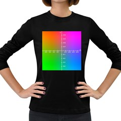Formula Plane Rainbow Women s Long Sleeve Dark T-Shirts