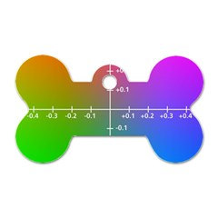 Formula Plane Rainbow Dog Tag Bone (Two Sides)
