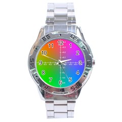 Formula Plane Rainbow Stainless Steel Analogue Watch