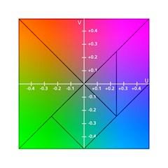 Formula Plane Rainbow Acrylic Tangram Puzzle (6  x 6 )