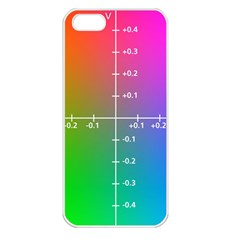 Formula Plane Rainbow Apple iPhone 5 Seamless Case (White)
