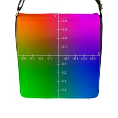 Formula Plane Rainbow Flap Messenger Bag (L)