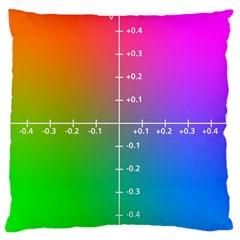Formula Plane Rainbow Large Flano Cushion Case (Two Sides)