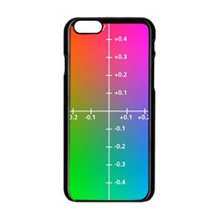 Formula Plane Rainbow Apple iPhone 6/6S Black Enamel Case