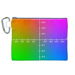 Formula Plane Rainbow Canvas Cosmetic Bag (XL)